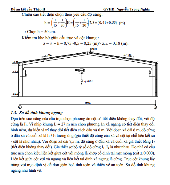 Đồ án kết cấu thép khung zamil trang 2