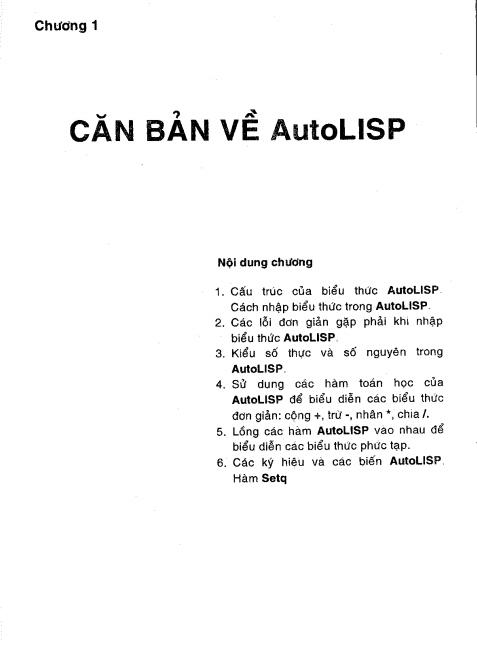 Sách học lập trình thiết kế Autocad lisp tập1