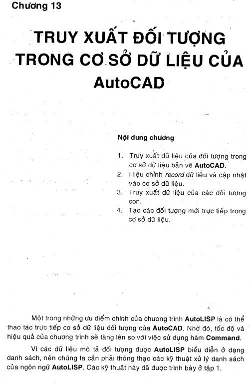 Sách học lập trình thiết kế Autocad lisp tập 2 chương 13