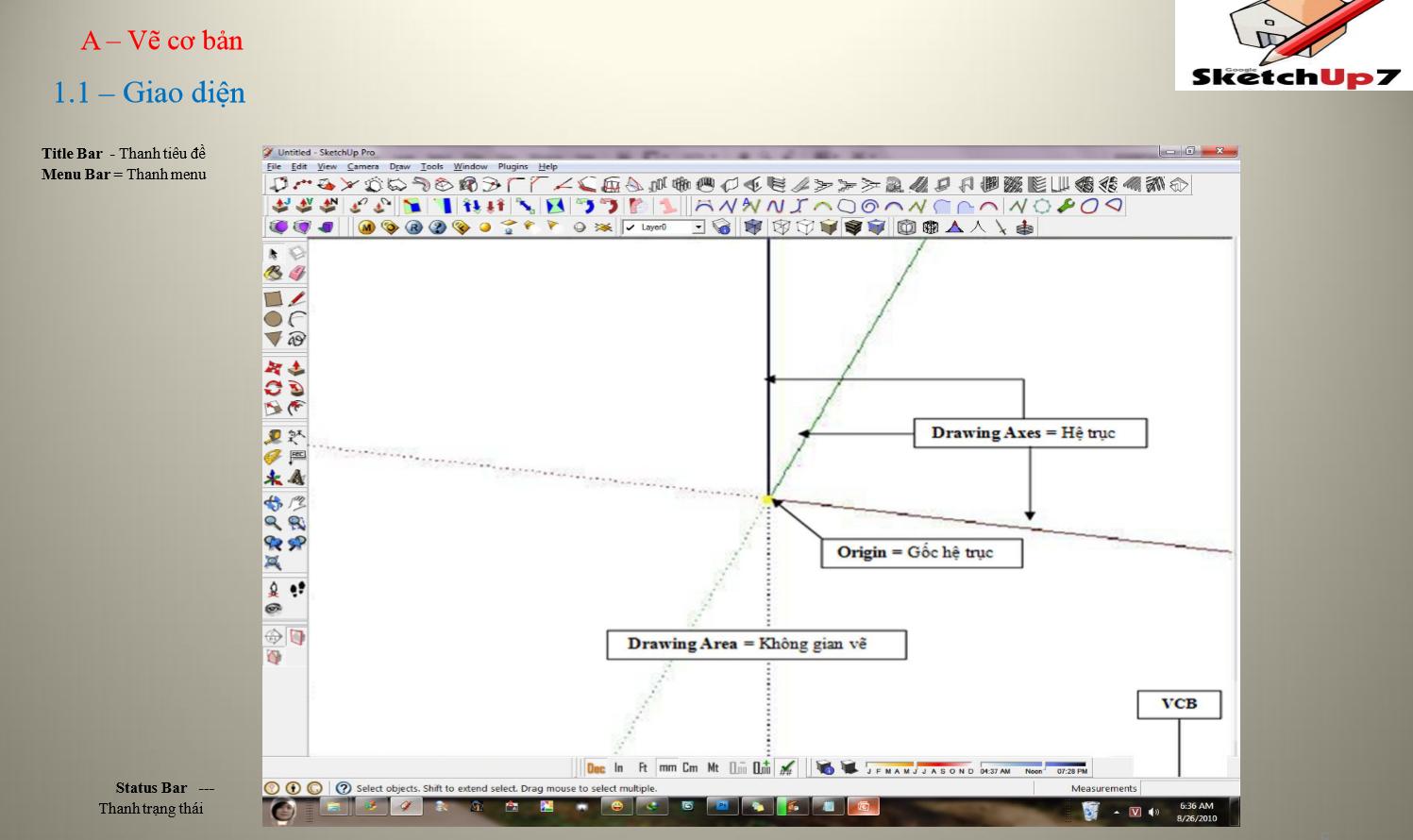 tài liệu học SketchUp