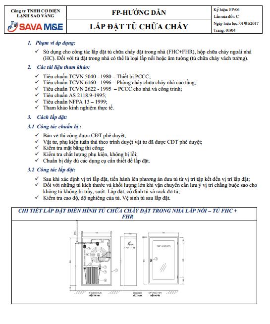 lắp đặt phòng cháy chữa cháy tủ chữa cháy