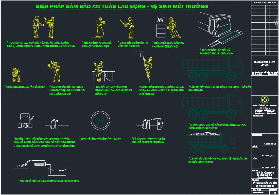 Biện pháp thi công nhà cao tầng an toàn lao động và vệ sinh môi trường