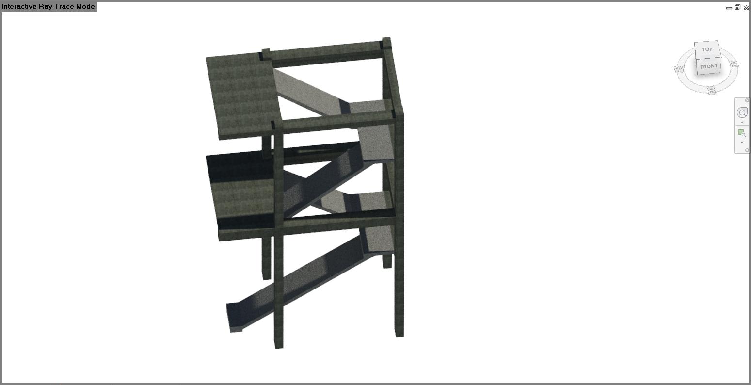 File mẫu revit structure cầu thang