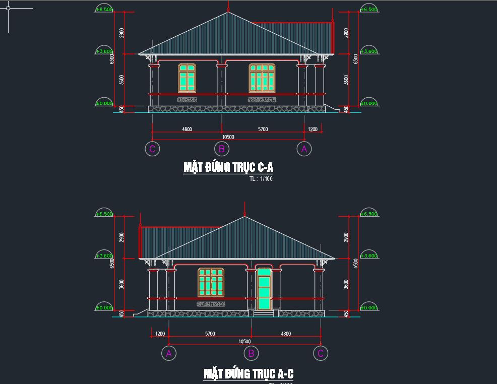 file CAD nhà ăn công nghiệp