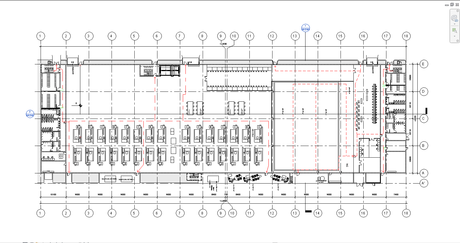 File revit nhà xưởng công nghiệp đẹp kết cấu