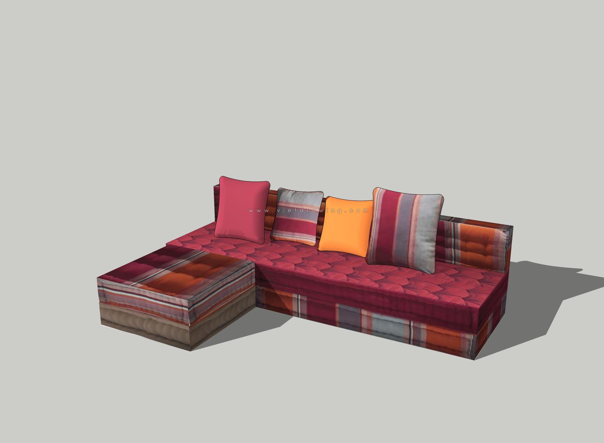 Thư viện sofa sketchup mẫu 3