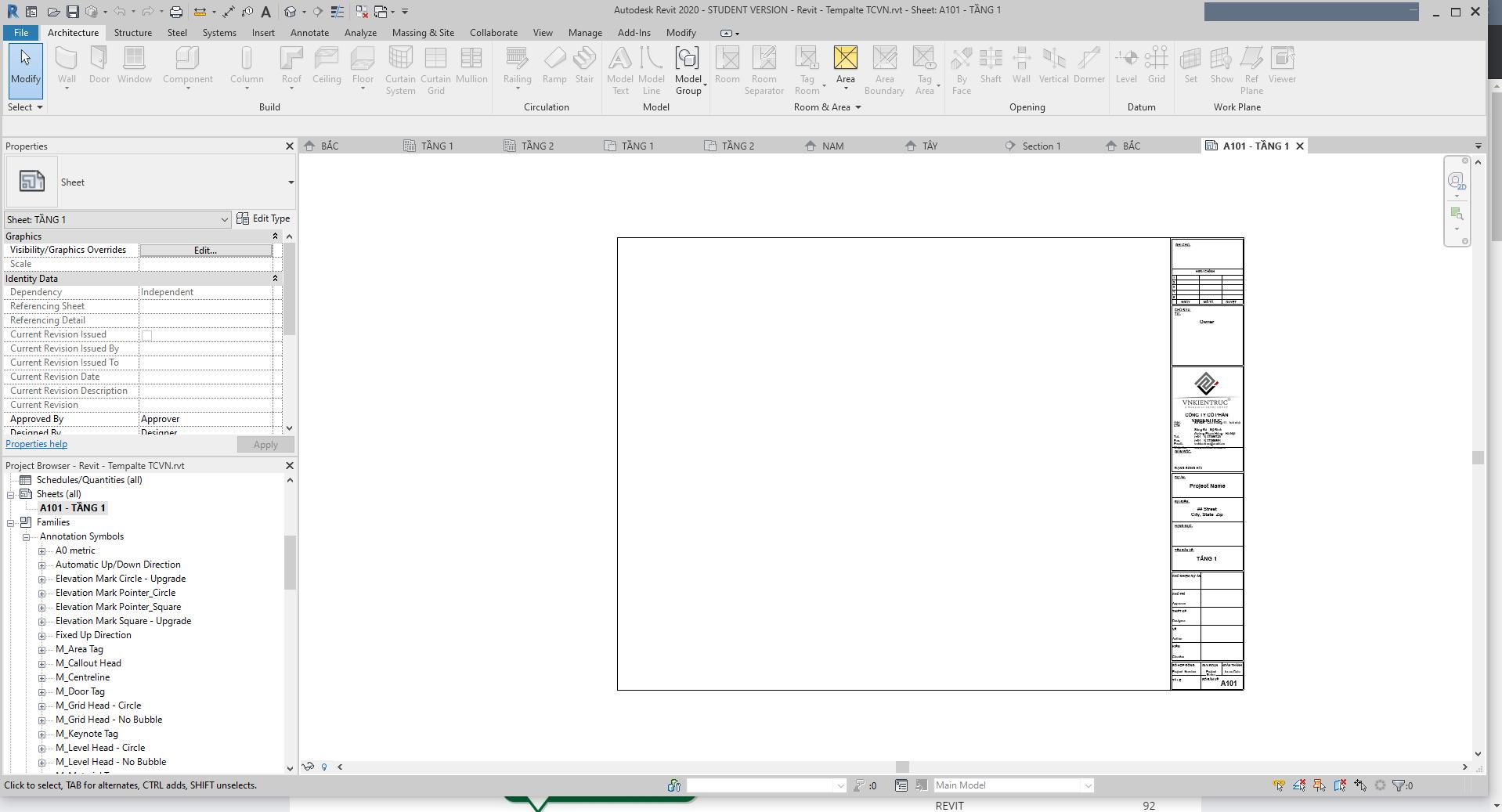 file template revit theo tcvn