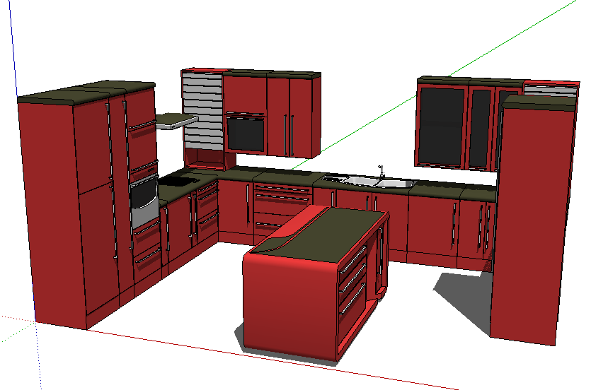 Thư viện tủ bếp sketchup