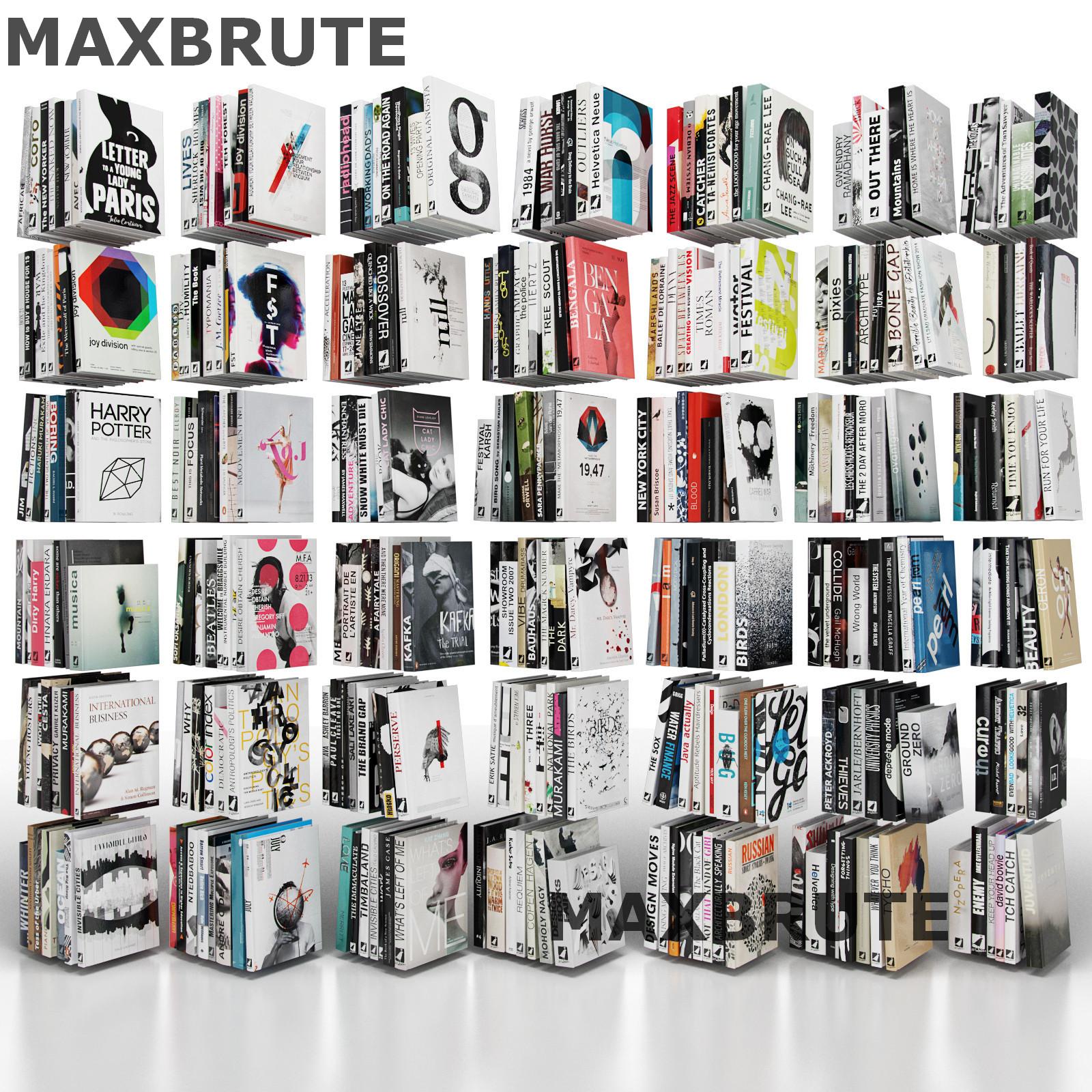 Thư viện sách 3dsmax  mẫu 1