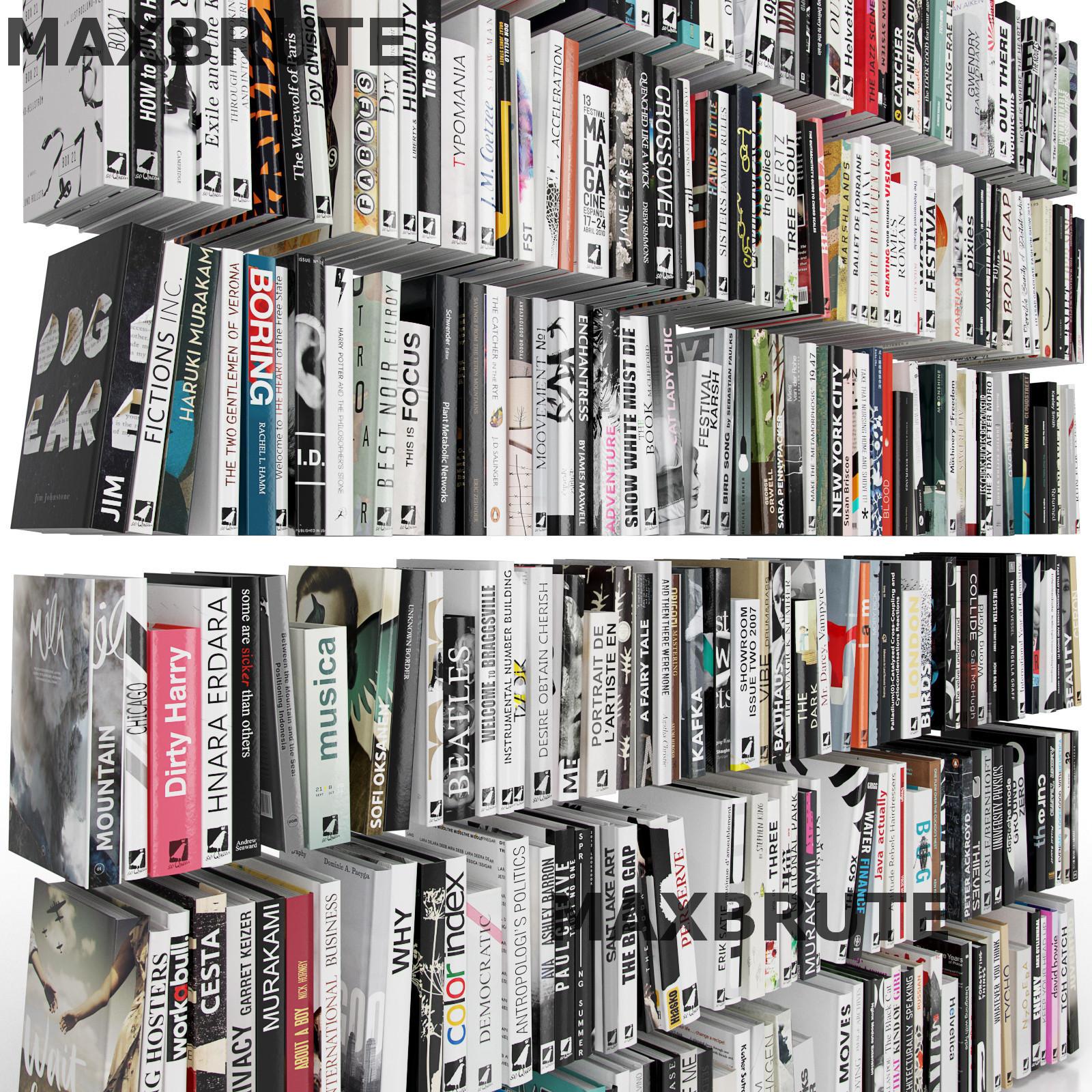 Thư viện sách 3dsmax  mẫu 2