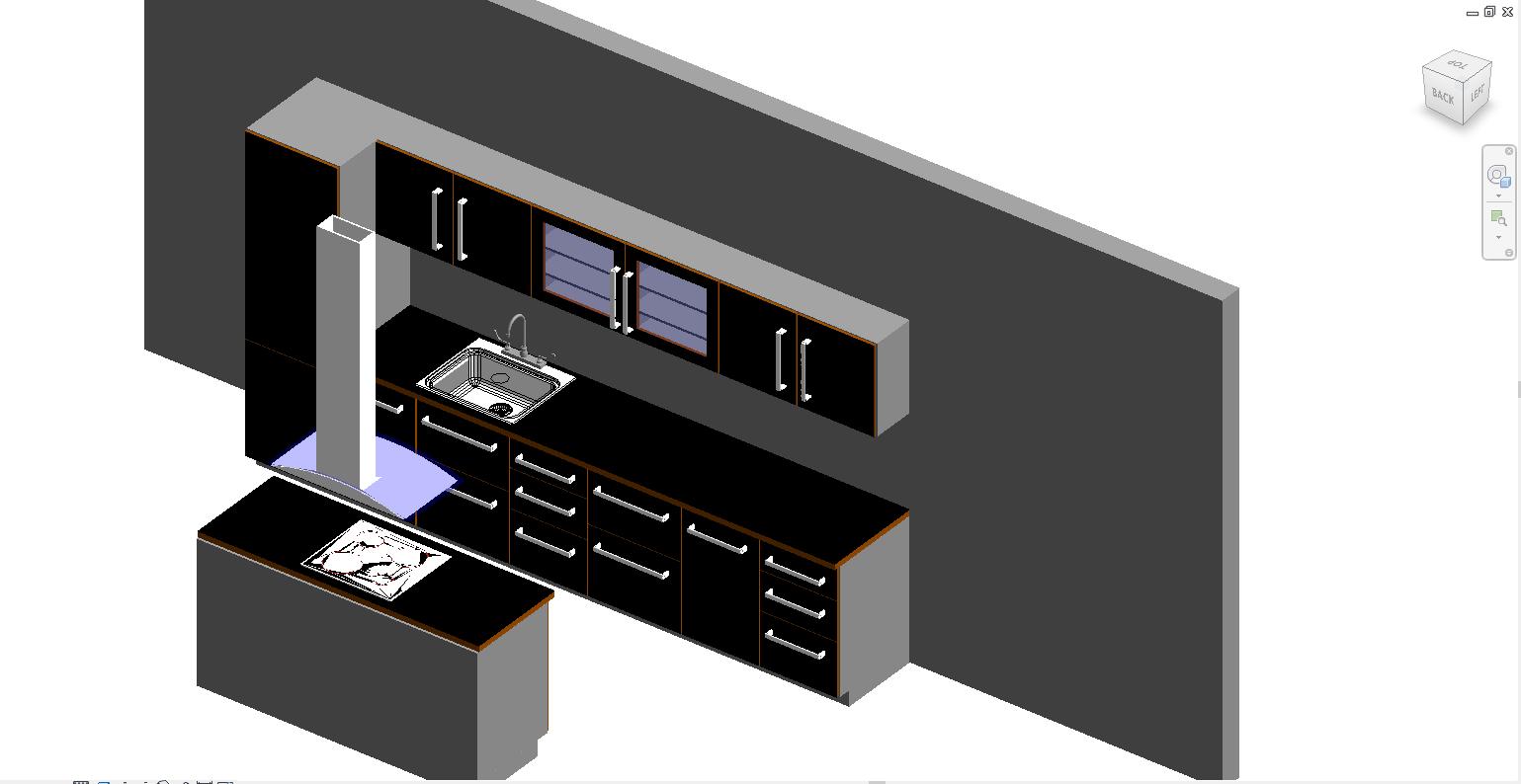 Thư viện phòng bếp revit 1