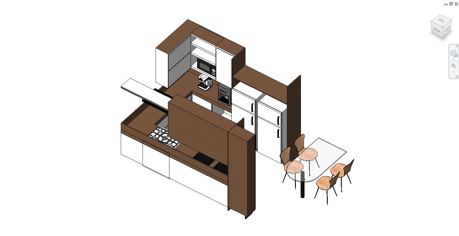 Thư viện phòng bếp revit loại 3