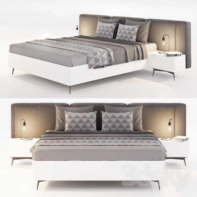 Thư viện giường 3dsmax mẫu 3