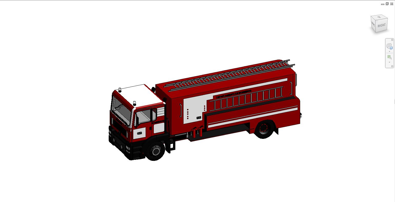 thư viện revit pccc xe chữa cháy