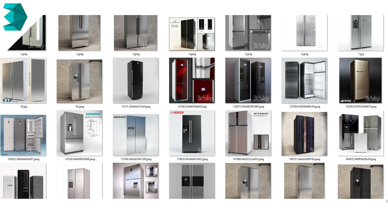 thư viện 3dmax tủ lạnh