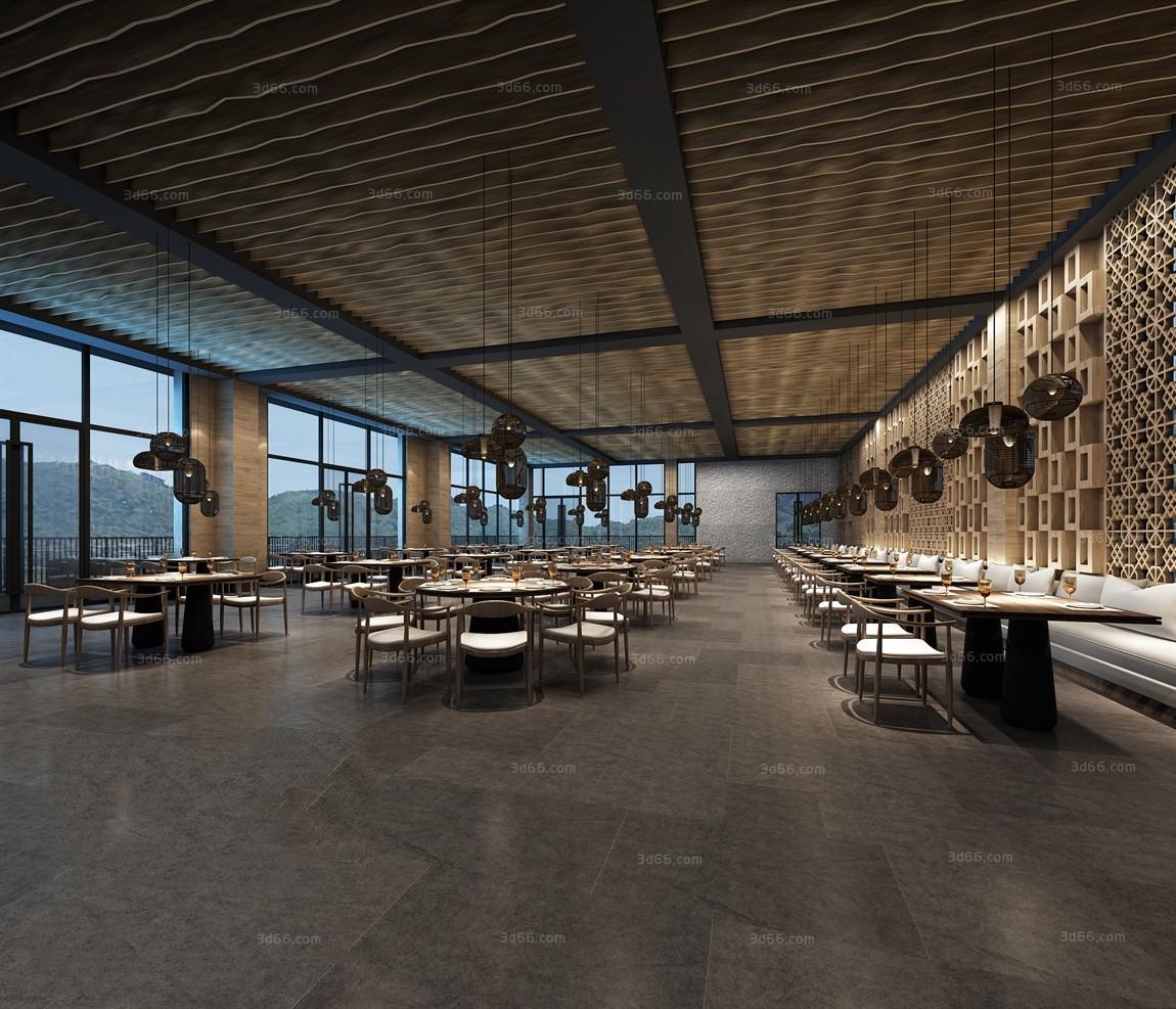 thư viện 3dsmax nhà hàng 3
