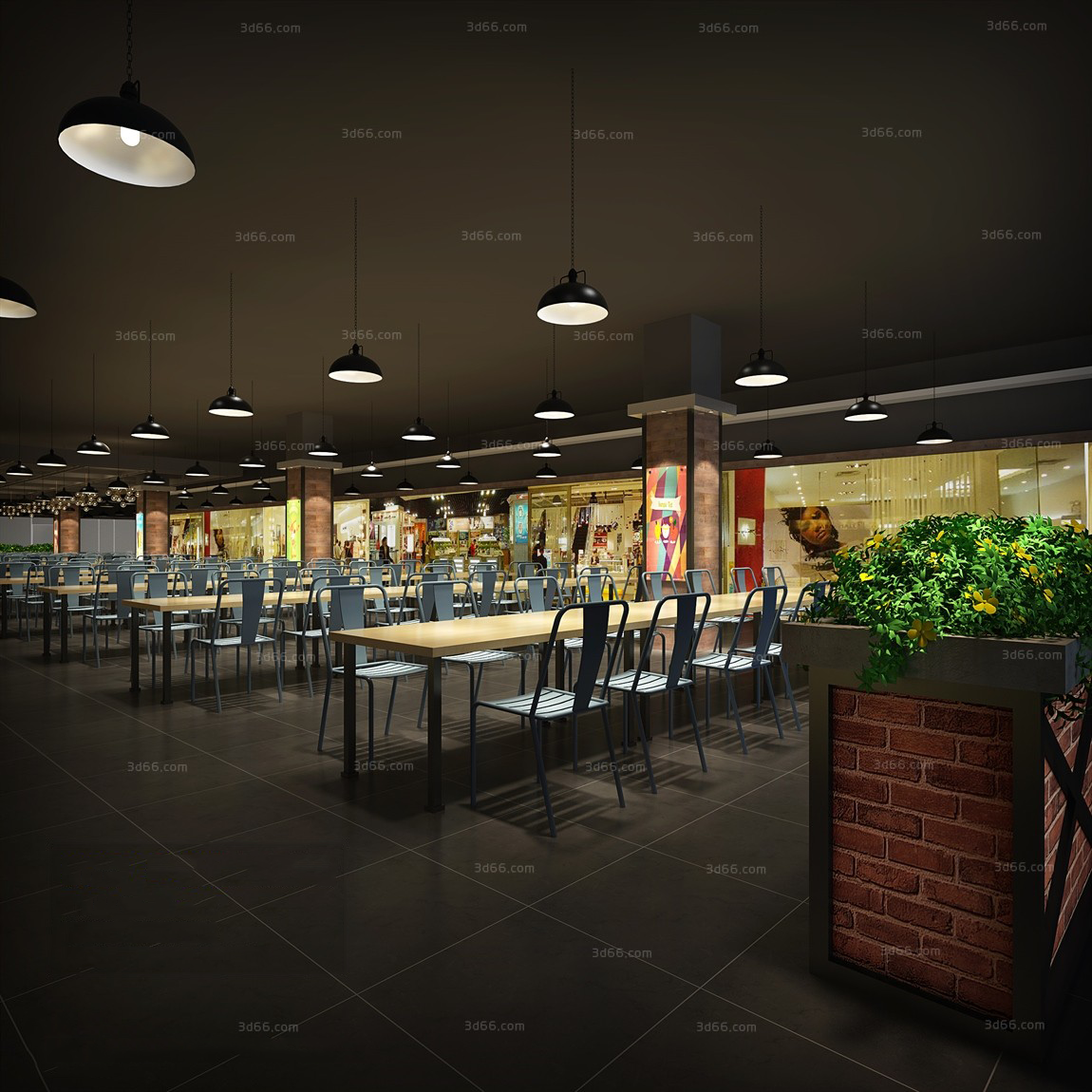 thư viện 3dsmax nhà hàng 2