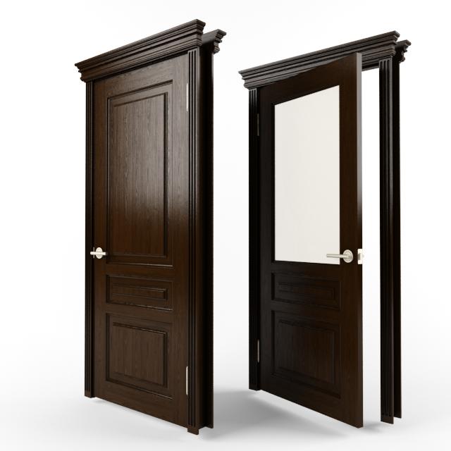 thư viện cửa gỗ 3dsmax loại 2