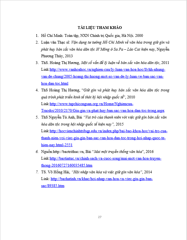 Tiểu luận Tư tưởng Hồ Chí Minh