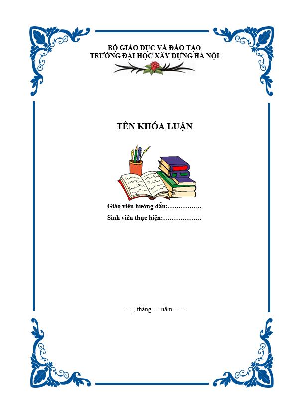 Bìa tiểu luận