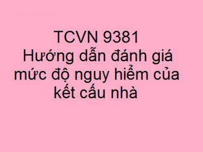 TCVN 9381-201: Đánh giá mức độ nguy hiểm kết cấu nhà