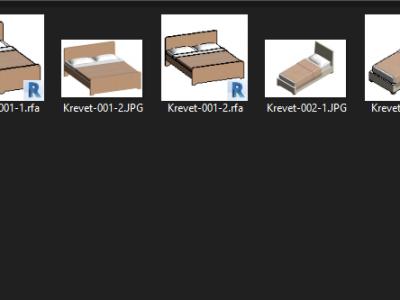 Thư viện giường ngủ revit-Các mẫu thiết kế đẹp