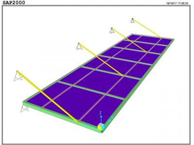 Tài liệu tính toán thiết kế mái đón kính bằng Sap2000